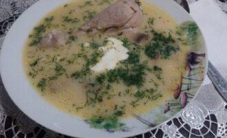 ПП суп с грибами и плавленным сыром