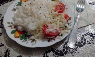Рассыпчатый пп рис с овощами