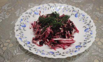 ПП салат из свежей капусты со свёклой