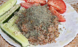 ПП гречка с тыквенными семечками и оливками