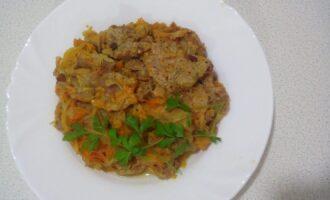 ПП мясо с овощами в духовке