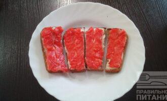 ПП бутерброды с красной рыбой