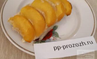 Творожный пирог с персиками ПП