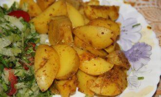 Тушеный пп картофель с отрубями