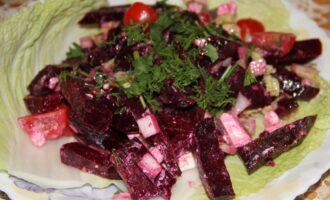 ПП салат из свеклы и китайской капусты