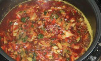 Вегетарианский борщ без картофеля, со шпинатом