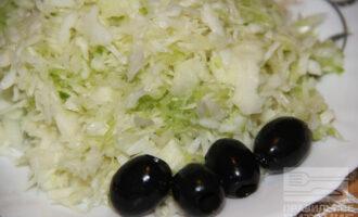 ПП салат из белокочанной капусты и редьки