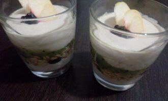 Творожный пп десерт с киви и бананом