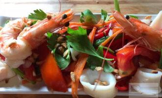 ПП салат из морепродуктов