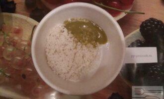Шаг 4: Смешайте рис с пюре из брокколи.