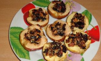 Яблочные лодочки с черносливом ПП