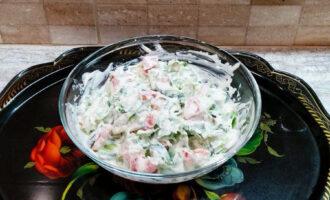ПП салат с сырно-горчичным соусом