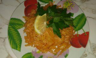 ПП капуста с рисом в томатном соусе