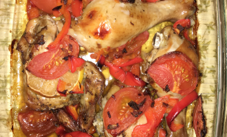 ПП курица с овощами в духовке
