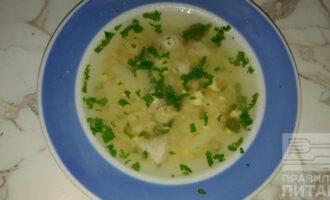 Яично-куриный суп ПП