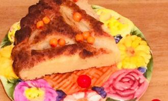 Грушевый пирог с творогом ПП