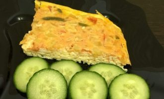 ПП омлет с овощами