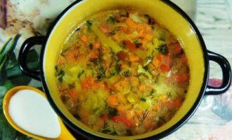 ПП суп с пшеном без картофеля