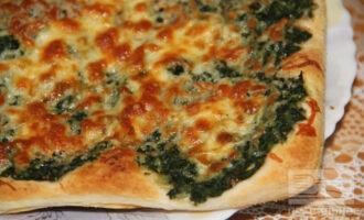 ПП пицца с сыром, шпинатом и отрубями