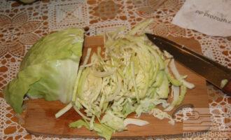 Шаг 6: Нарежьте капусту.