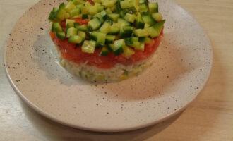 ПП салат с авокадо и форелью