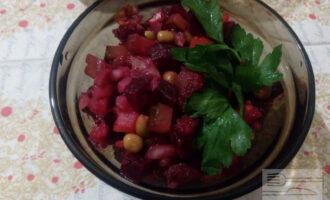 Овощной ПП салат с сельдью