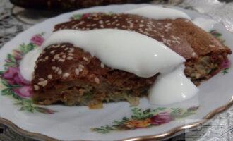 Заливной ПП пирог с капустой