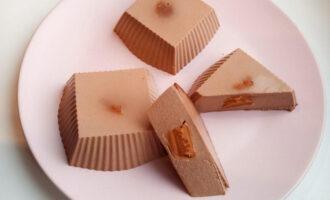 Шоколадно-кофейный творожный десерт с арахисовой пастой ПП