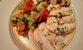 Куриное ПП филе с соусом из печеных овощей