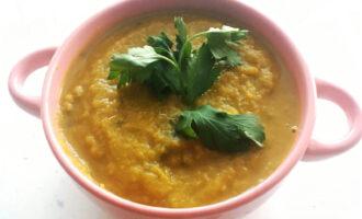 ПП крем-суп из тыквы и брокколи