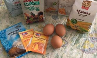 Шаг 1: Подготовьте ингредиенты для торта.