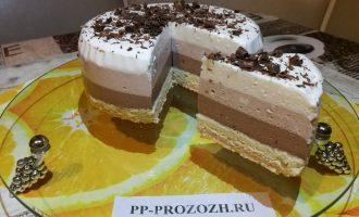 """Муссовый ПП торт """"Три шоколада"""""""