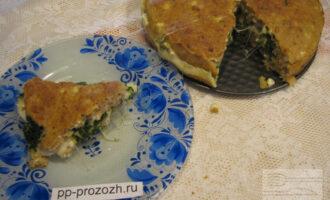 ПП пирог с сулугуни и шпинатом