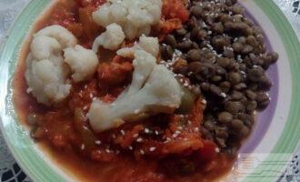 ПП чечевица с овощным соусом