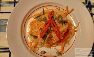 ПП салат из тыквы и квашеной капусты