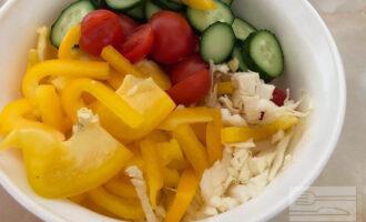 Шаг 4: Тем временем нарежьте овощи.