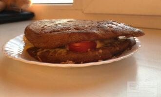 ПП блин на кефире с помидорами и сыром