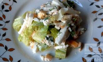 Сырный ПП салат с яйцом