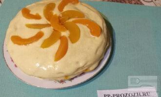 Постный фруктовый торт