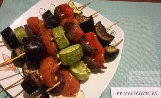 Овощной ПП шашлык из печеных овощей