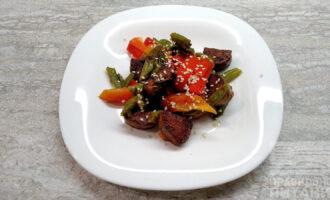Постный тофу с овощами