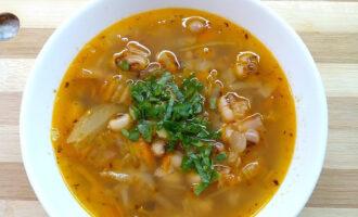 Постный суп с фасолью без картофеля