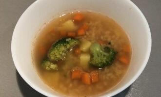 Шаг 6: Постный суп с булгуром готов.