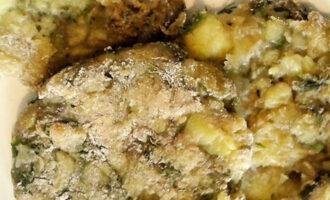 Постные картофельные лепешки с луком и укропом