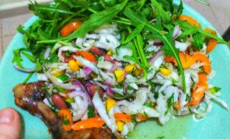 Постный овощной салат