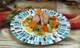 ПП мясо кроля с овощами