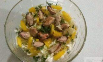 ПП салат с мидиями