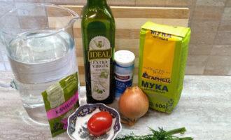 Шаг 1: Подготовьте необходимые ингредиенты для приготовления нутового омлета.