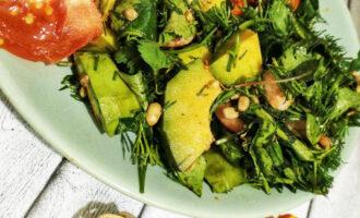 ПП салат с авокадо и креветками