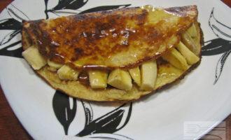 Овсяноблин с медом и бананом